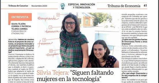 Entrevista a Etnonautas en Tribuna de Canarias